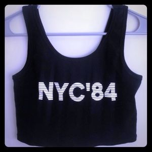 Forever 21 NYC '84 crop top